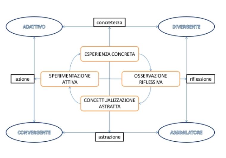 kolb stili di apprendimento e profili come applicati da Andrea Succi