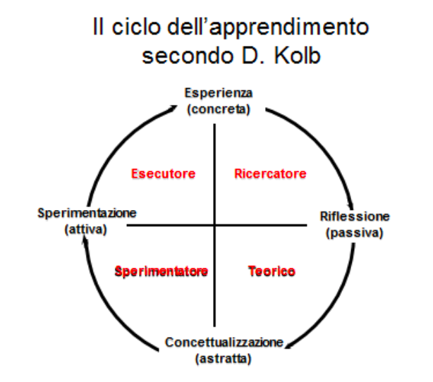"""Ciclo d'apprendimento esperienziale"""" di David Kolb applicato da Andrea Succi"""