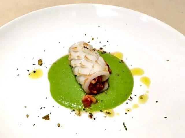 Piatto di pesce della chef Candida Visaggi di Mattarello (a) Way